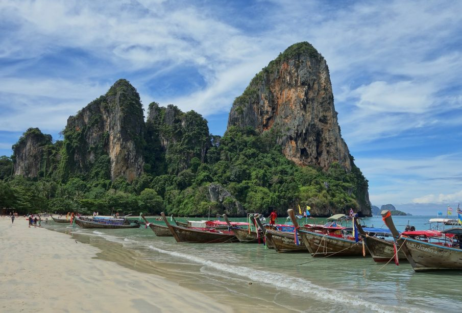 Thailands boats on the beach